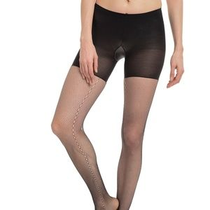 Spanx Black Side-Seam Fishnet NWT